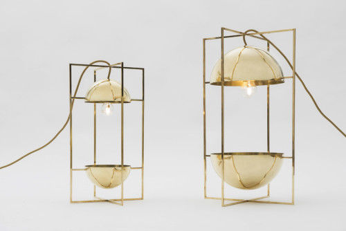 Geometric Golden Lamps