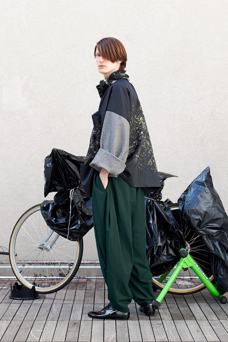 Oversized Biker Attire