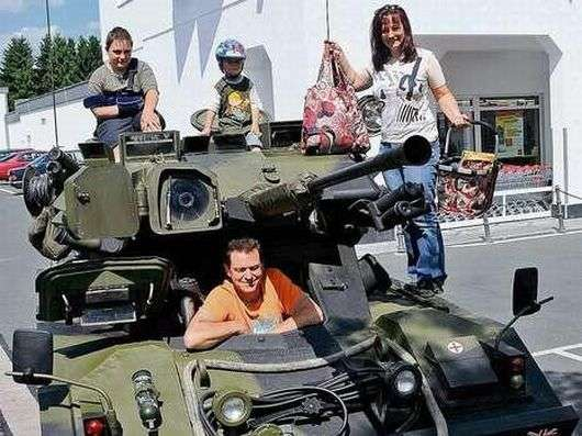 Shopping for Groceries in Tanks