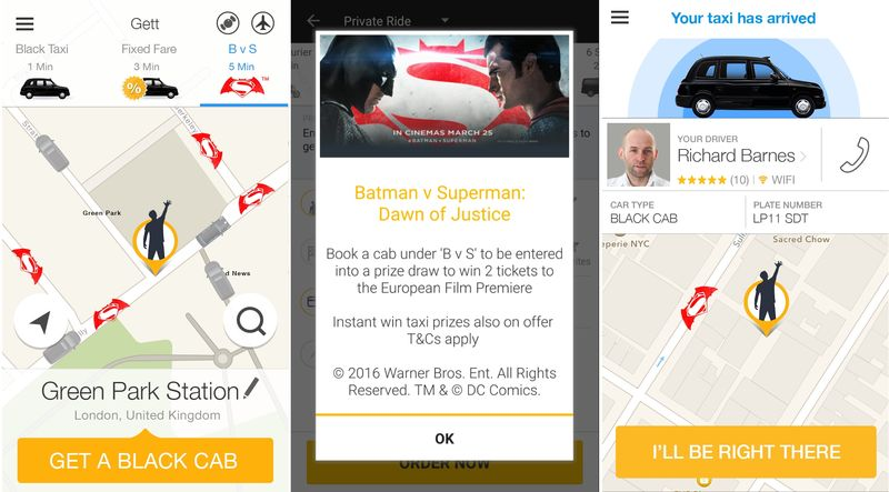 Superhero Taxi Promotions