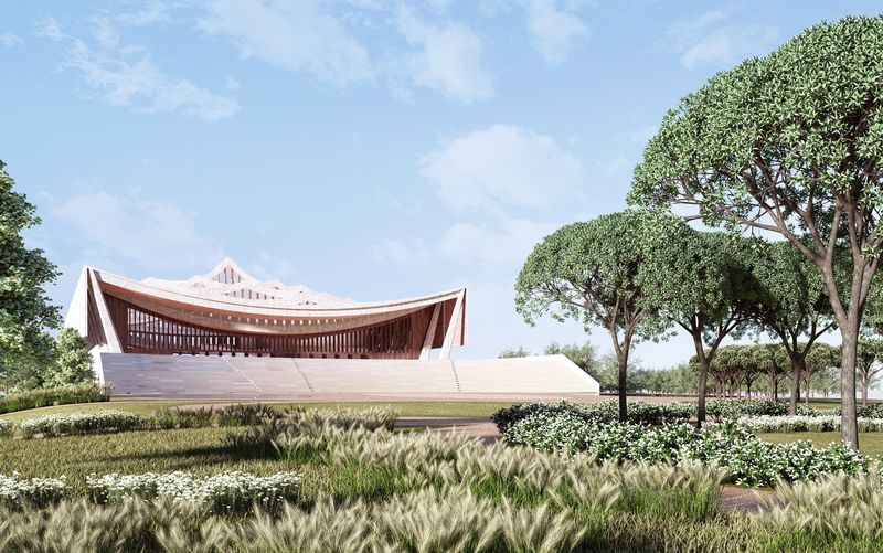 Draped Cathedral Designs : ghana national cathedral