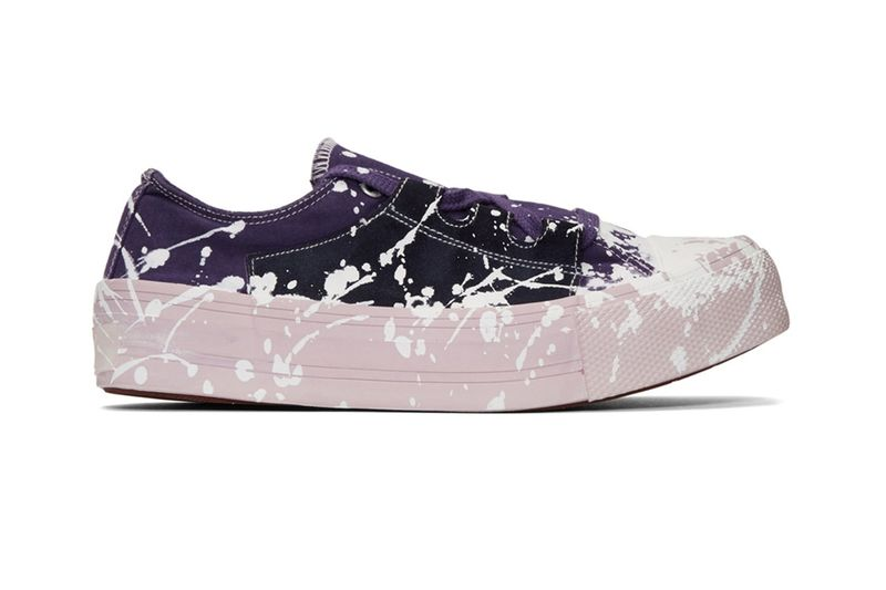 Paint-Splattered Chunky Sole Sneakers