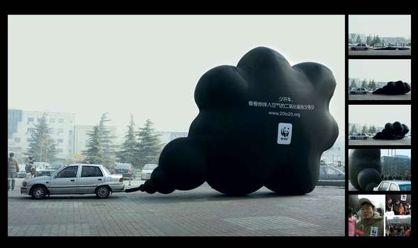 Giant Air Bags Anti Pollution Campaign
