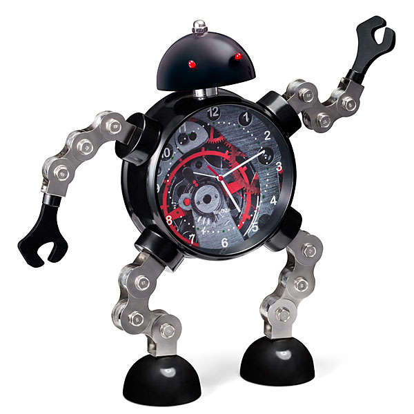Glaring Robot Alarm Clocks