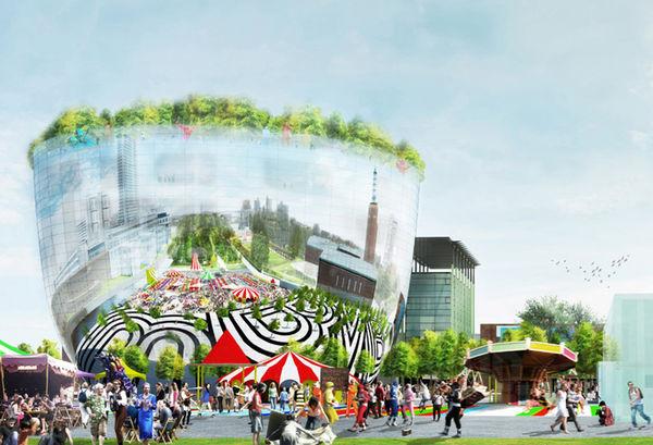 Futuristic Reflective Architecture