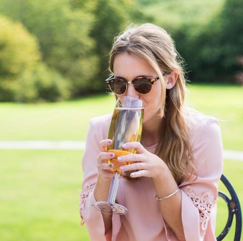 Bottle-Sized Champagne Flutes