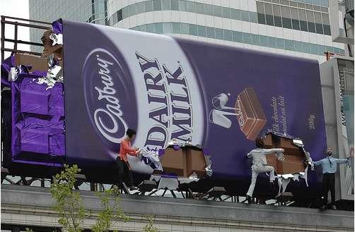 Chocolate Billboards: Giant Cadbury Bar