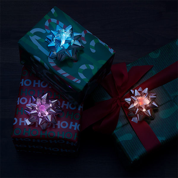 Glowing LED Gift Bows