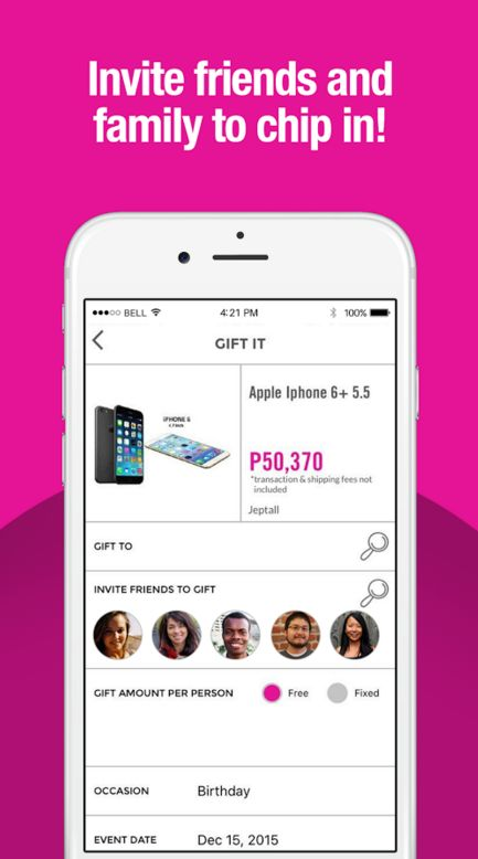 Crowdsourced Gifting Apps
