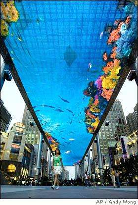 Led Ceilings New Beijing Mall Feature