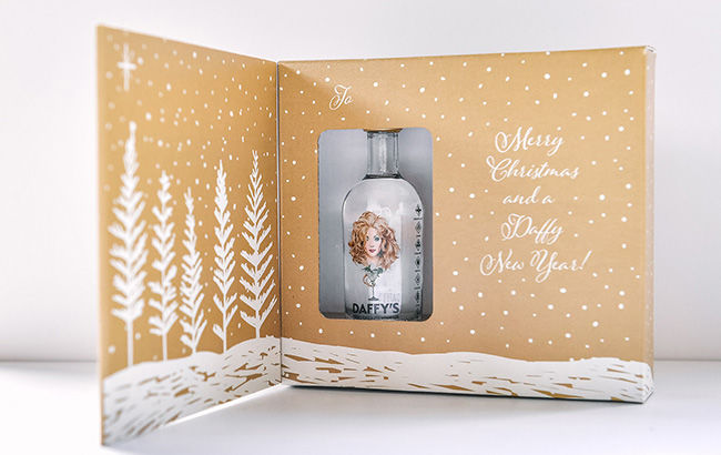 Gin-Filled Christmas Cards