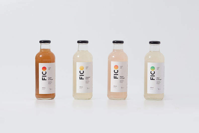 Minimal Ginger Drink Packaging Ginger Drink