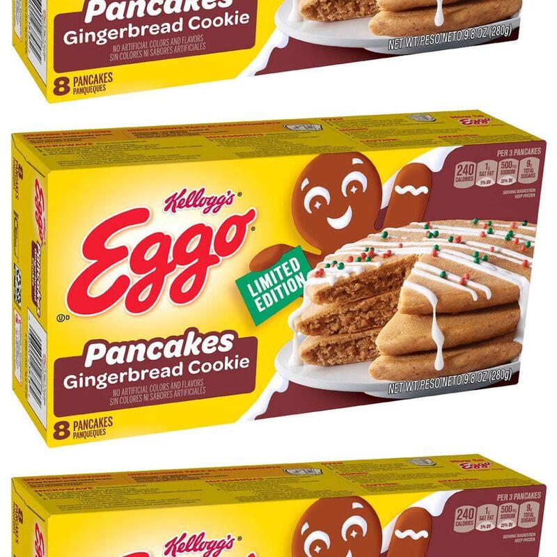 Frozen Gingerbread Cookie Pancakes
