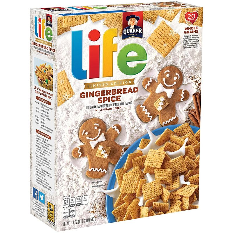 Seasonal Gingerbread Cereals