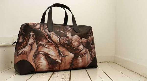 Graffiti-Printed Luxury Luggage