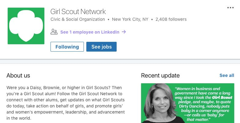 Girl Scout Networking Hubs