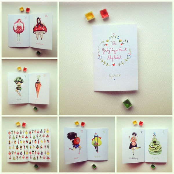 Fruity Alphabet Illustrations