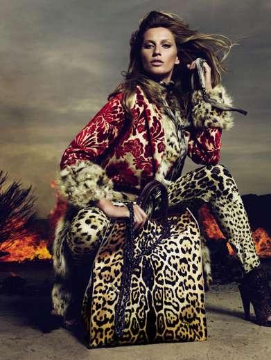 Leopard-Print Fashion Ads