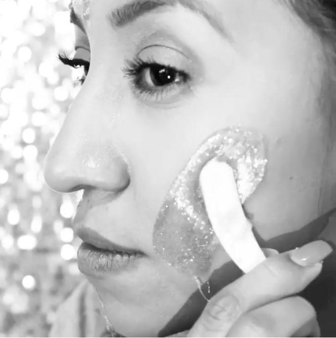 Glittering Face Masks
