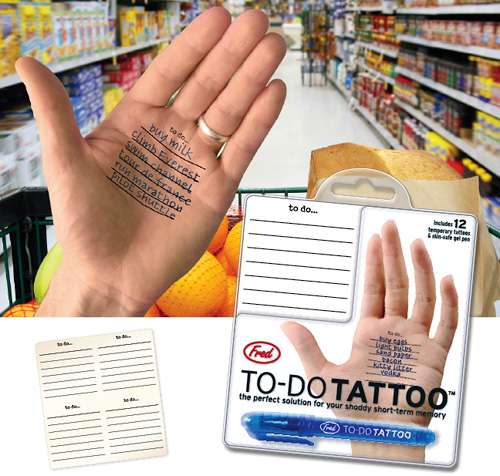 To Do List Temp Tattoo: A Reason to Scribble on Your Skin