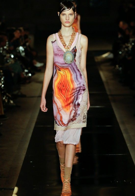 Vibrant Geode-Inspired Fashion