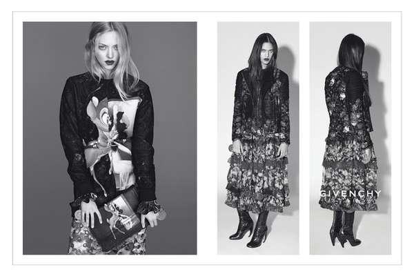 Moody Grayscale Fashion Ads