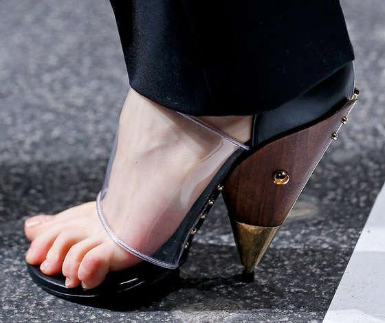 Futuristic Hardwood Heels
