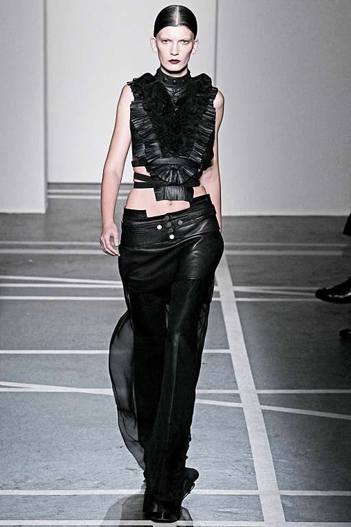 2bfade626028 Gothic Leather Outfits   Givenchy Spring Summer 2011