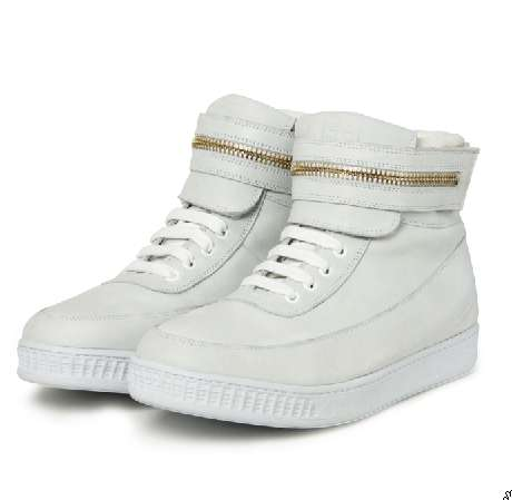 White Zippered Sneaks
