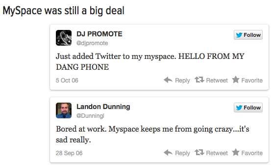 Comical Social Media Throwbacks