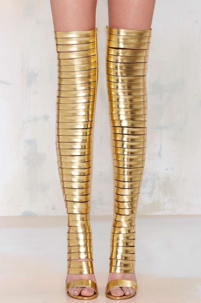 Gilded Gladiator Boots