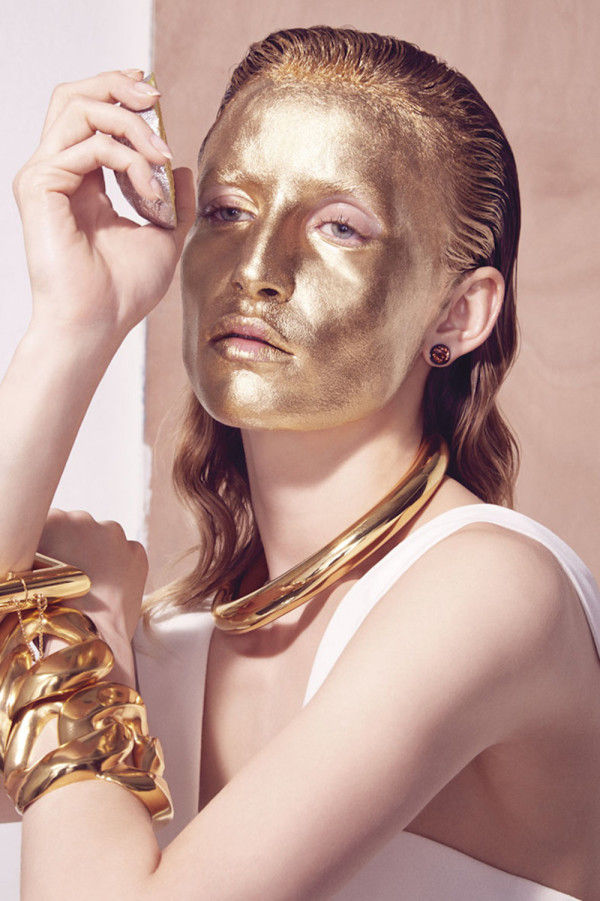Glam Metallic Editorials