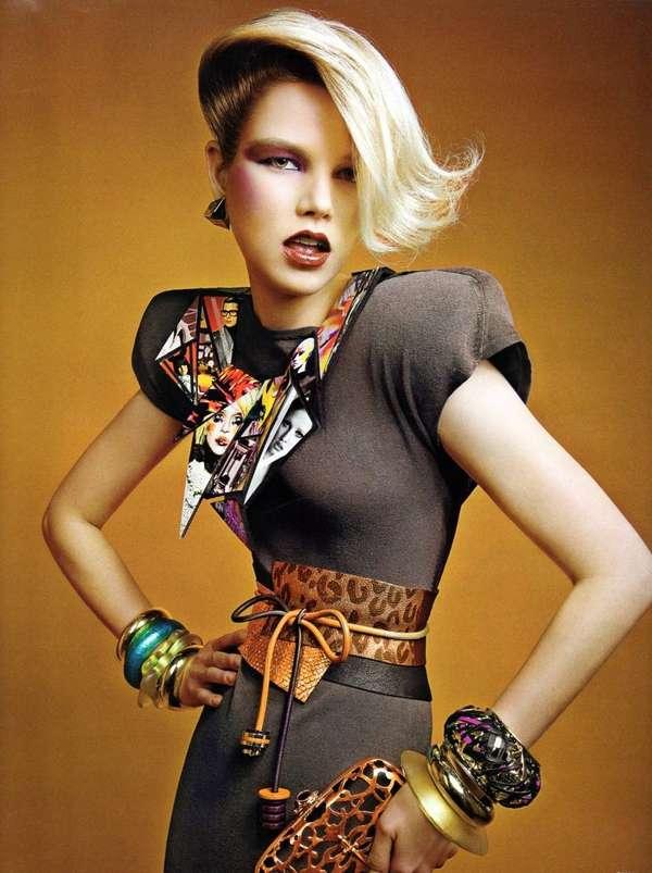 Ultra Glam Retro 80s Pride Glory Colorful Fashionshoot For V