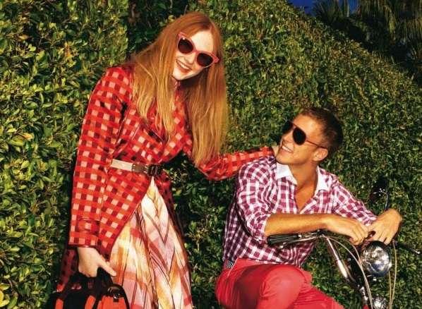 Pattern-Clashing Spring Fashion
