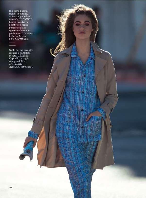 Pajama-Parading Shoots - Jessica Clarke Stars in a Fun Editorial for  Glamour Italia 429939982