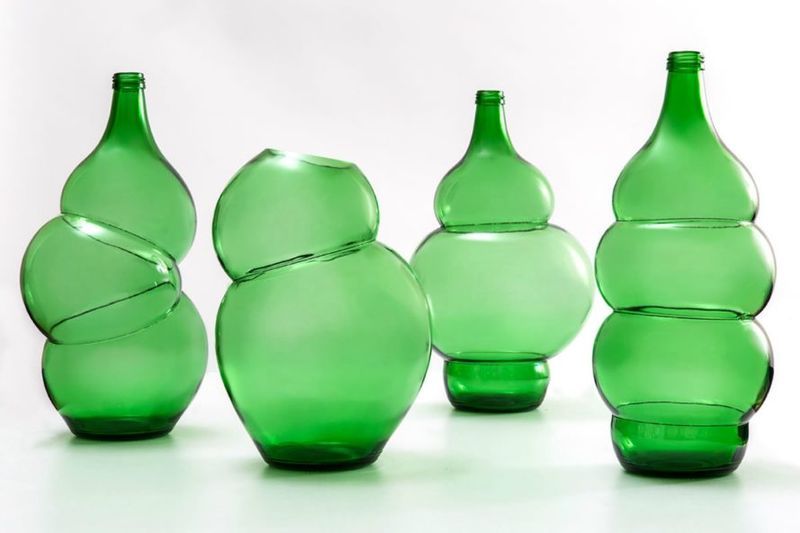 Glass Bottle-Based Vases