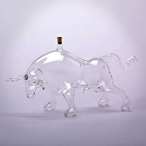 Charging Bull Decanters