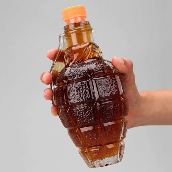 Explosive Beverage Bottles
