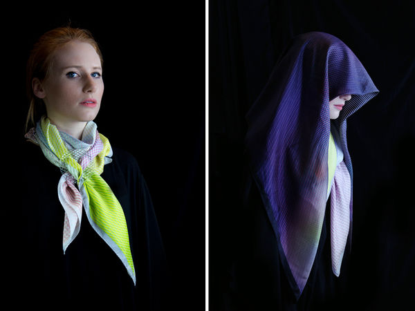 Glass-Integrated Scarves