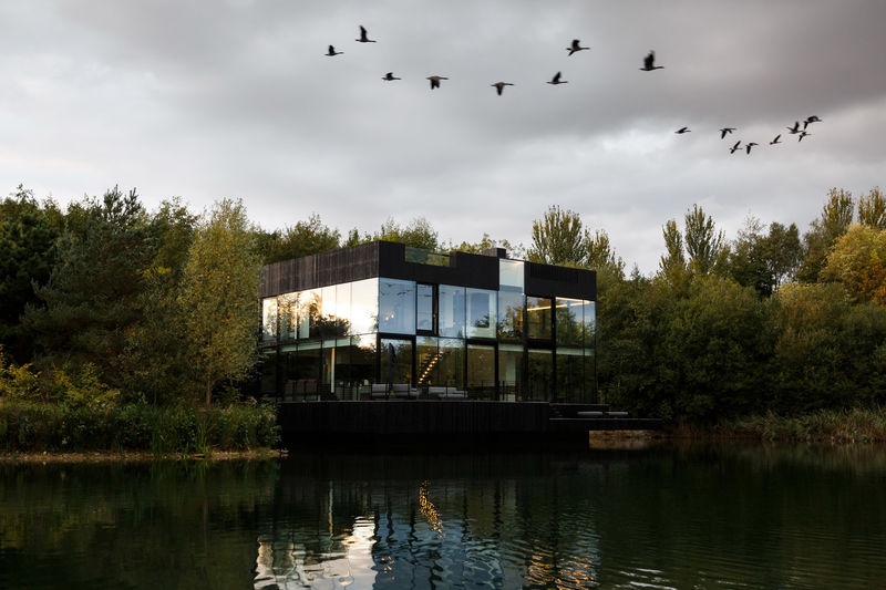 Partly Submerged Modern Villas
