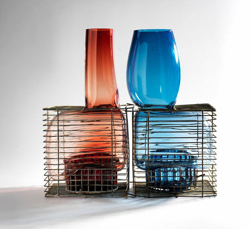 Caged Glass Installations