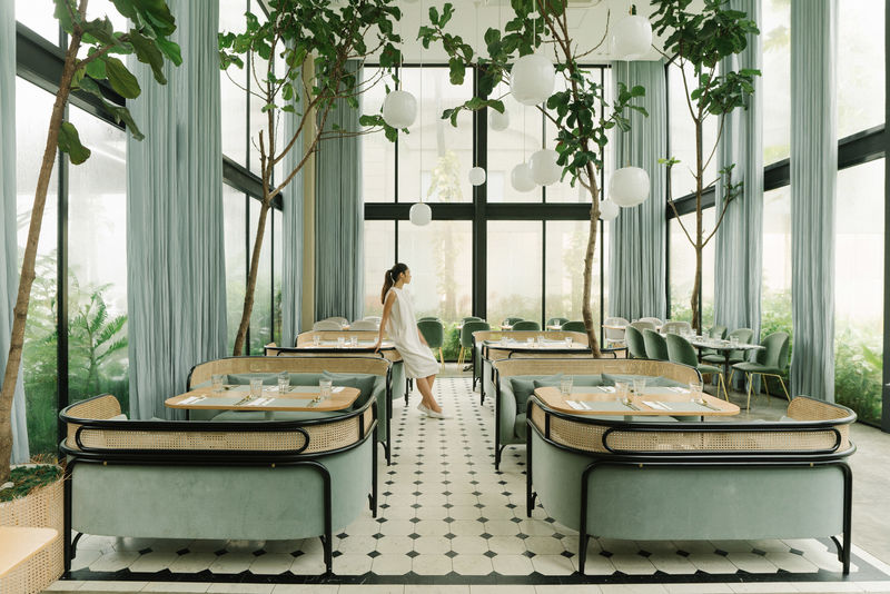 Plant-Infused Glasshouse Cafes