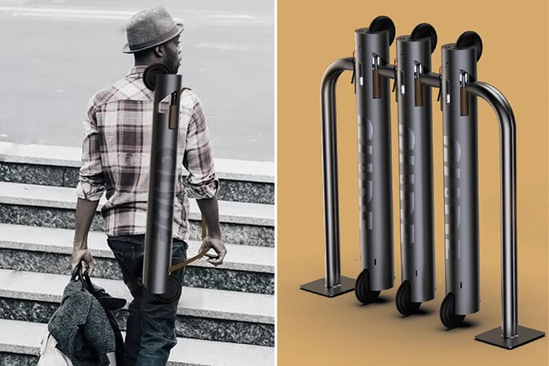 Tubular City-Friendly Scooters