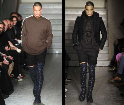 Glittery Thigh-High Male Boots: Givenchy Gets Men on Over-the-Knee ...