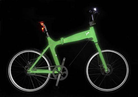 Glow-In-The-Dark Bicycle