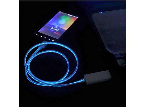 Flowing Light USB Cables