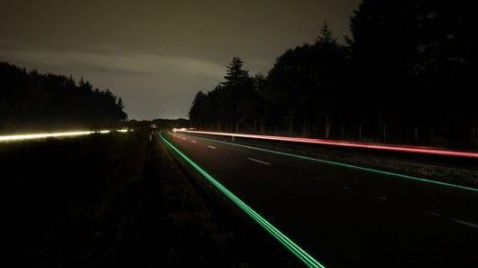 Glowing Road Markings