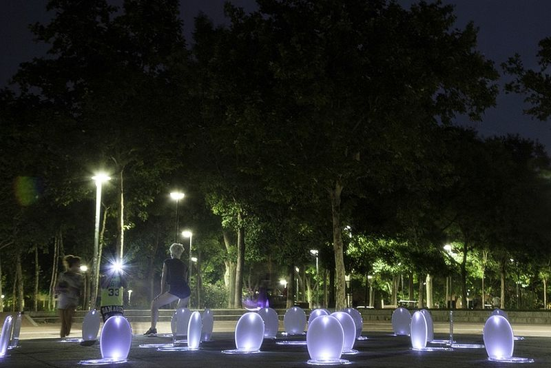 Glowing Toilet Seat Installations