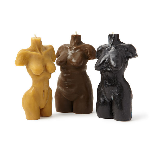Size-Inclusive Goddess Figure Candles