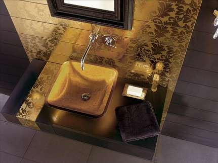 Golden Bath Tiles